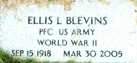 BLEVINS  (VETERAN WWII), ELLIS L - Boone County, Arkansas | ELLIS L BLEVINS  (VETERAN WWII) - Arkansas Gravestone Photos