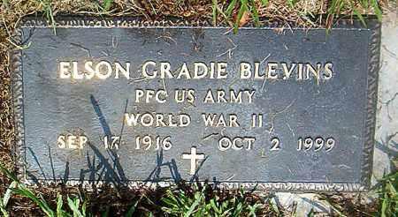 BLEVINS  (VETERAN WWII), ELSON GRADIE - Boone County, Arkansas | ELSON GRADIE BLEVINS  (VETERAN WWII) - Arkansas Gravestone Photos