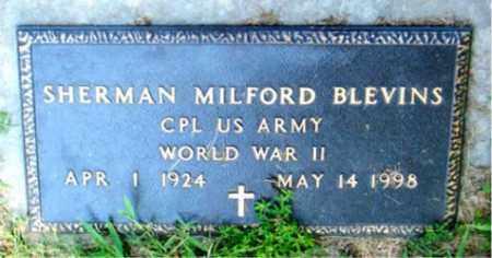 BLEVINS  (VETERAN WWII), SHERMAN MILFORD - Boone County, Arkansas | SHERMAN MILFORD BLEVINS  (VETERAN WWII) - Arkansas Gravestone Photos