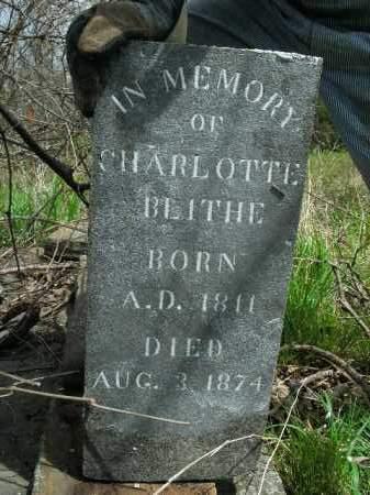 BLITHE, CHARLOTTE - Boone County, Arkansas   CHARLOTTE BLITHE - Arkansas Gravestone Photos
