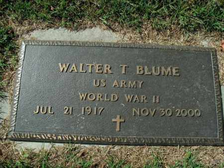 BLUME  (VETERAN WWII), WALTER T - Boone County, Arkansas | WALTER T BLUME  (VETERAN WWII) - Arkansas Gravestone Photos