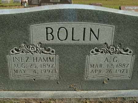 BOLIN, INEZ - Boone County, Arkansas | INEZ BOLIN - Arkansas Gravestone Photos
