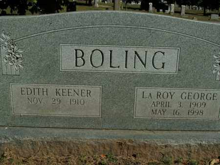 BOLING, LAROY GEORGE - Boone County, Arkansas | LAROY GEORGE BOLING - Arkansas Gravestone Photos
