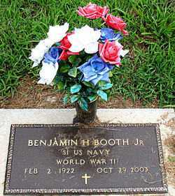 BOOTH, JR  (VETERAN WWII), BENJAMIN H - Boone County, Arkansas | BENJAMIN H BOOTH, JR  (VETERAN WWII) - Arkansas Gravestone Photos