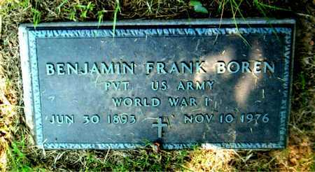 BOREN  (VETERAN WWI), BENJAMIN FRANK - Boone County, Arkansas | BENJAMIN FRANK BOREN  (VETERAN WWI) - Arkansas Gravestone Photos