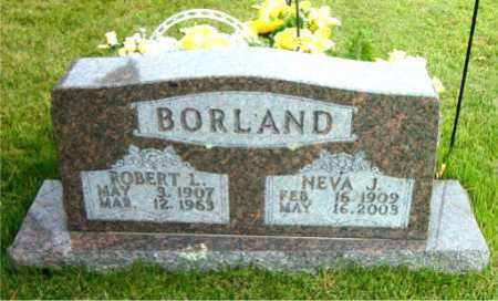 BORLAND, NEVA  JEWEL - Boone County, Arkansas | NEVA  JEWEL BORLAND - Arkansas Gravestone Photos