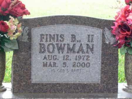 BOWMAN, FINIS B., II - Boone County, Arkansas | FINIS B., II BOWMAN - Arkansas Gravestone Photos