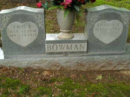 BOWMAN, FINIS B. - Boone County, Arkansas | FINIS B. BOWMAN - Arkansas Gravestone Photos