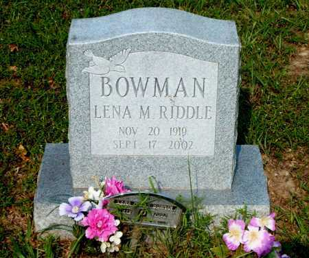 RIDDLE BOWMAN, LENA M. - Boone County, Arkansas | LENA M. RIDDLE BOWMAN - Arkansas Gravestone Photos
