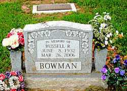 BOWMAN, RUSSELL RICHARD - Boone County, Arkansas | RUSSELL RICHARD BOWMAN - Arkansas Gravestone Photos