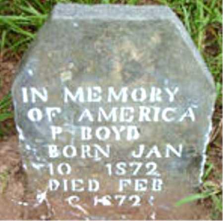 BOYD, AMERICA P. - Boone County, Arkansas | AMERICA P. BOYD - Arkansas Gravestone Photos