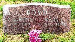 BOYD, V ALBERTA - Boone County, Arkansas | V ALBERTA BOYD - Arkansas Gravestone Photos