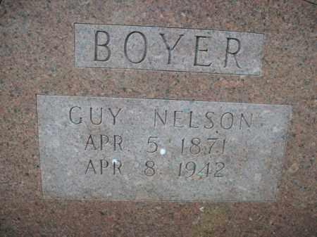 BOYER, GUY NELSON - Boone County, Arkansas | GUY NELSON BOYER - Arkansas Gravestone Photos
