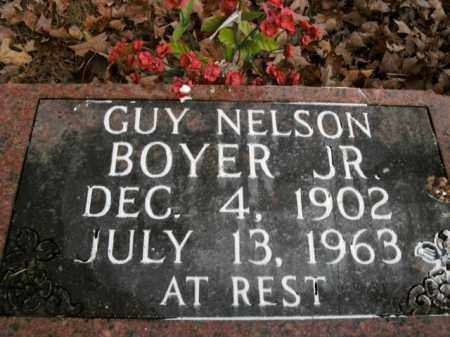 BOYER, JR, GUY NELSON - Boone County, Arkansas   GUY NELSON BOYER, JR - Arkansas Gravestone Photos