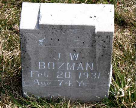 BOZMAN, J.  W. - Boone County, Arkansas | J.  W. BOZMAN - Arkansas Gravestone Photos
