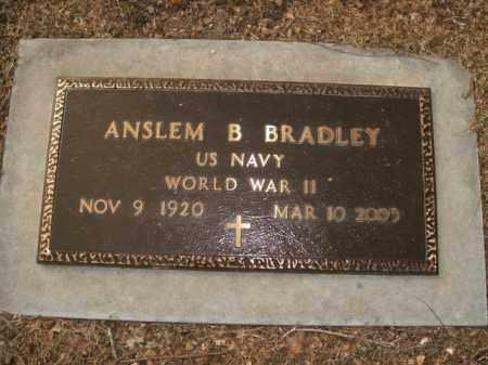 BRADLEY  (VETERAN WWII), ANSLEM B - Boone County, Arkansas | ANSLEM B BRADLEY  (VETERAN WWII) - Arkansas Gravestone Photos