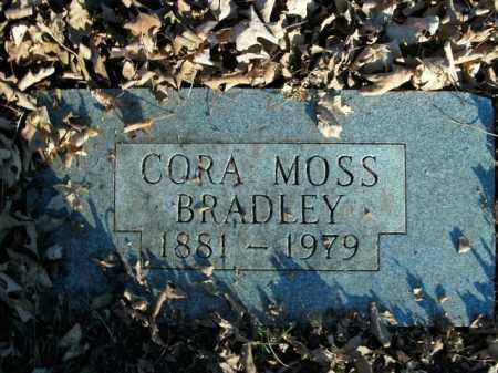 BRADLEY, CORA MOSS - Boone County, Arkansas   CORA MOSS BRADLEY - Arkansas Gravestone Photos