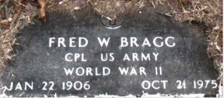 BRAGG  (VETERAN WWII), FRED W - Boone County, Arkansas | FRED W BRAGG  (VETERAN WWII) - Arkansas Gravestone Photos