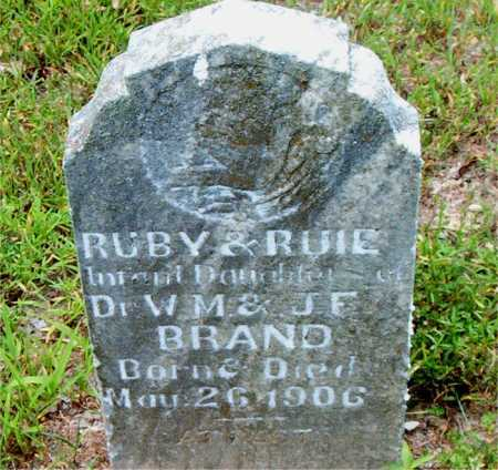 BRAND, RUBY - Boone County, Arkansas | RUBY BRAND - Arkansas Gravestone Photos