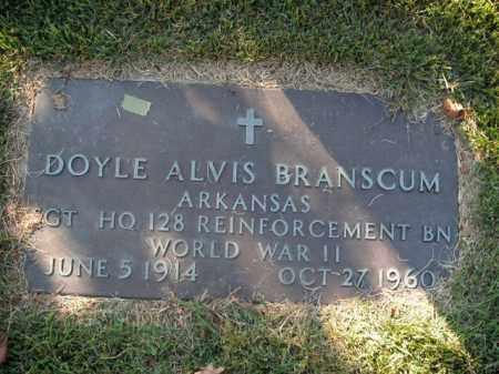 BRANSCUM  (VETERAN WWII), DOYLE ALVIS - Boone County, Arkansas | DOYLE ALVIS BRANSCUM  (VETERAN WWII) - Arkansas Gravestone Photos