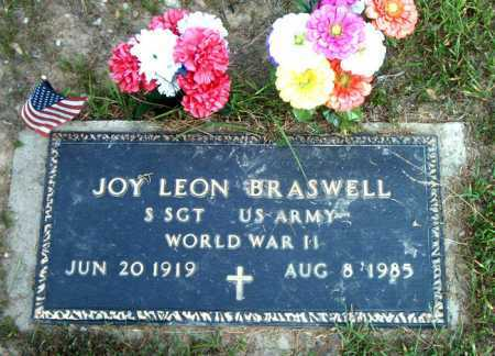 BRASWELL  (VETERAN WWII), JOY LEON - Boone County, Arkansas | JOY LEON BRASWELL  (VETERAN WWII) - Arkansas Gravestone Photos
