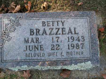 BRAZZEAL, BETTY - Boone County, Arkansas | BETTY BRAZZEAL - Arkansas Gravestone Photos
