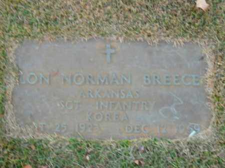 BREECE  (VETERAN KOR), LON NORMAN - Boone County, Arkansas | LON NORMAN BREECE  (VETERAN KOR) - Arkansas Gravestone Photos