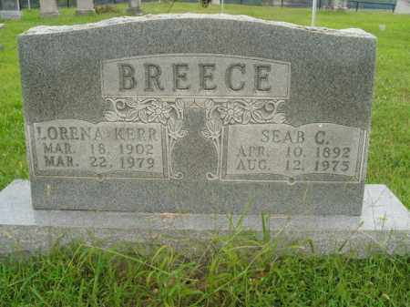 KERR BREECE, LORENA - Boone County, Arkansas | LORENA KERR BREECE - Arkansas Gravestone Photos