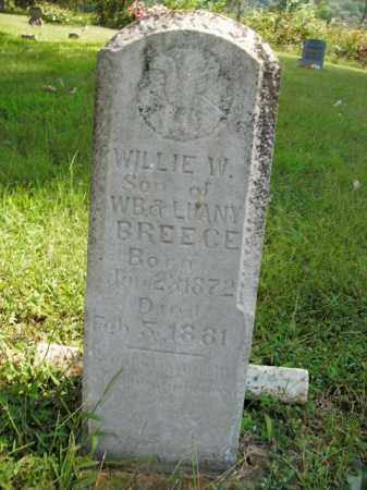 BREECE, WILLIE W. - Boone County, Arkansas | WILLIE W. BREECE - Arkansas Gravestone Photos
