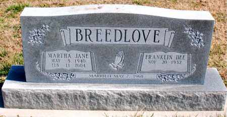 BREEDLOVE, MARTHA JANE - Boone County, Arkansas | MARTHA JANE BREEDLOVE - Arkansas Gravestone Photos