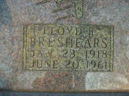 BRESHEARS, LLOYD B. - Boone County, Arkansas | LLOYD B. BRESHEARS - Arkansas Gravestone Photos