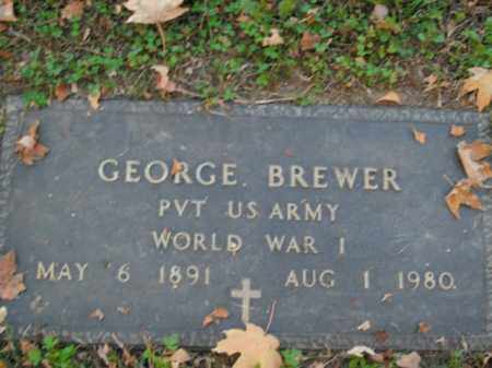 BREWER  (VETERAN WWI), GEORGE - Boone County, Arkansas | GEORGE BREWER  (VETERAN WWI) - Arkansas Gravestone Photos