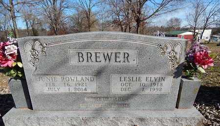 BREWER, LESLIE ELVIN - Boone County, Arkansas | LESLIE ELVIN BREWER - Arkansas Gravestone Photos