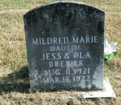 BREWER, MILDRED MARIE - Boone County, Arkansas | MILDRED MARIE BREWER - Arkansas Gravestone Photos