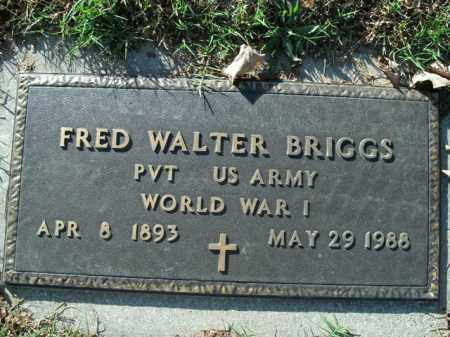 BRIGGS  (VETERAN WWI), FRED WALTER - Boone County, Arkansas | FRED WALTER BRIGGS  (VETERAN WWI) - Arkansas Gravestone Photos