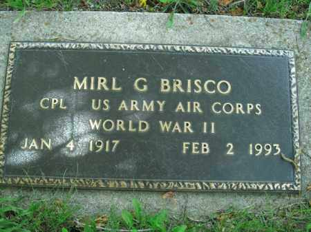 BRISCO  (VETERAN WWII), MIRL G. - Boone County, Arkansas | MIRL G. BRISCO  (VETERAN WWII) - Arkansas Gravestone Photos