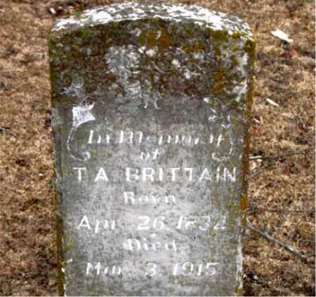 BRITTAIN  (VETERAN CSA), T. A. - Boone County, Arkansas | T. A. BRITTAIN  (VETERAN CSA) - Arkansas Gravestone Photos