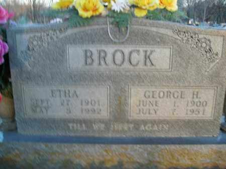 BROCK, GEORGE H. - Boone County, Arkansas | GEORGE H. BROCK - Arkansas Gravestone Photos