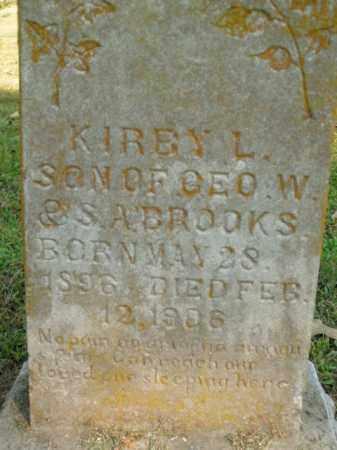 BROOKS, KIRBY L. - Boone County, Arkansas | KIRBY L. BROOKS - Arkansas Gravestone Photos