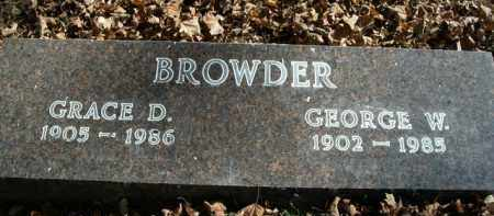 BROWDER, GEORGE W. - Boone County, Arkansas | GEORGE W. BROWDER - Arkansas Gravestone Photos