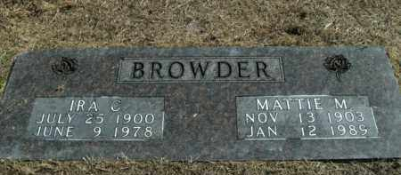 MARTIN BROWDER, MATTIE - Boone County, Arkansas | MATTIE MARTIN BROWDER - Arkansas Gravestone Photos