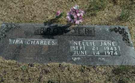 BROWDER, NELLIE JANE - Boone County, Arkansas   NELLIE JANE BROWDER - Arkansas Gravestone Photos