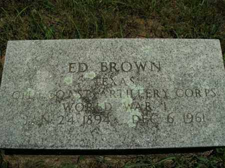BROWN  (VETERAN WWI), ED - Boone County, Arkansas | ED BROWN  (VETERAN WWI) - Arkansas Gravestone Photos