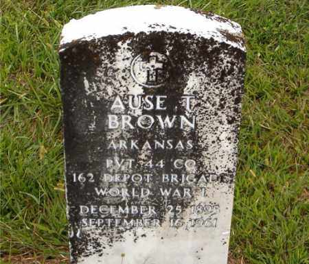 BROWN  (VETERAN WWI), AUSE  T. - Boone County, Arkansas | AUSE  T. BROWN  (VETERAN WWI) - Arkansas Gravestone Photos