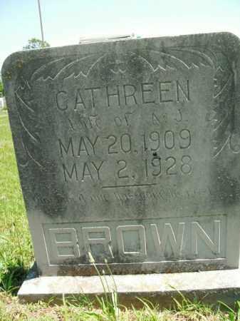 BROWN, CATHREEN - Boone County, Arkansas | CATHREEN BROWN - Arkansas Gravestone Photos