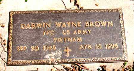 BROWN  (VETERAN VIET), DARWIN WAYNE - Boone County, Arkansas | DARWIN WAYNE BROWN  (VETERAN VIET) - Arkansas Gravestone Photos