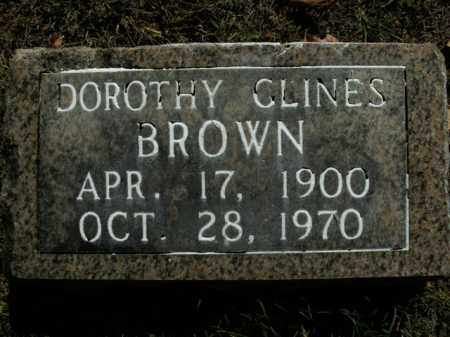 CLINES BROWN, DOROTHY - Boone County, Arkansas | DOROTHY CLINES BROWN - Arkansas Gravestone Photos