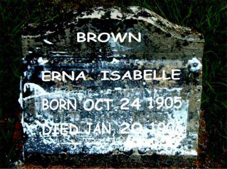 BROWN, ERNA ISABELLE - Boone County, Arkansas | ERNA ISABELLE BROWN - Arkansas Gravestone Photos