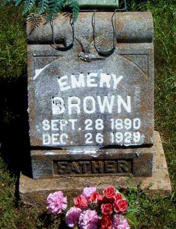 BROWN, EMERY - Boone County, Arkansas | EMERY BROWN - Arkansas Gravestone Photos