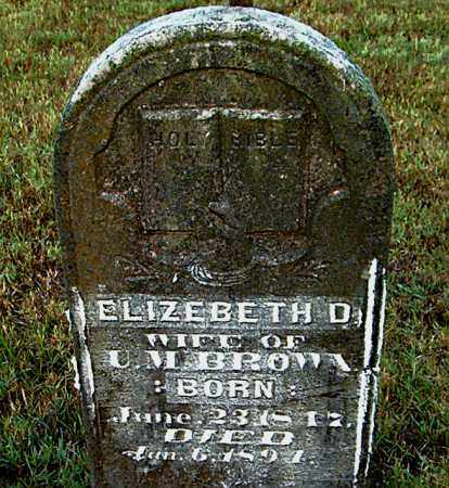 BROWN, ELIZEBETH D. - Boone County, Arkansas | ELIZEBETH D. BROWN - Arkansas Gravestone Photos
